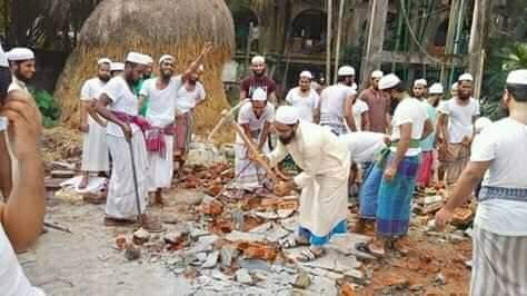 """""""বেনায়ে ফুজালায়ে দারুল উলুম"""" এর নির্মাণ কাজ শুরু"""