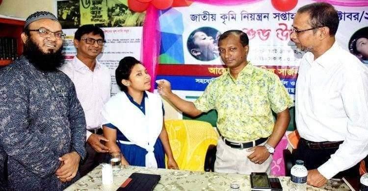 নরসিংদীতে জাতীয় কৃমি নিয়ন্ত্রণ সপ্তাহের উদ্বোধন
