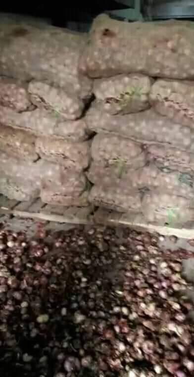 হাটহাজারীতে এক রড সিমেন্টের গোডাউন পিঁয়াজের গোডাউনে পরিনত হয়েছে