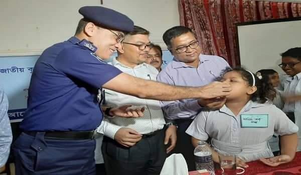 নোয়াখালীতে জাতীয় কৃমি নিয়ন্ত্রন সপ্তাহের উদ্বোধন