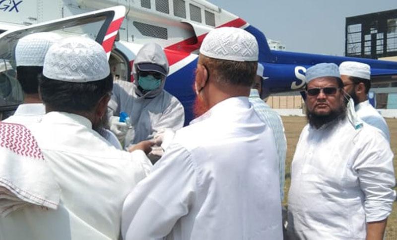 হেলিকপ্টারযোগে ঢাকায় আনা হয়েছে আল্লামা আহমদ শফিকে