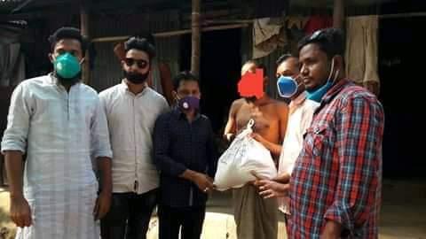 অসহায় মানুষের পাশে কোম্পানীগঞ্জ উপজেলা ছাত্রদল