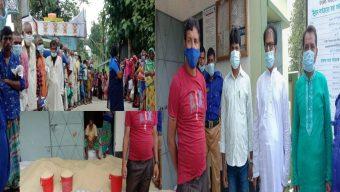 ধামরাইয়ে সাস্থ্যবিধি মেনে ১০ টাকা কেজি করে চাল বিতরণ সম্পূর্ণ